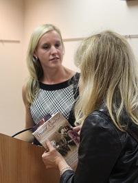 Erika Robuck signs books